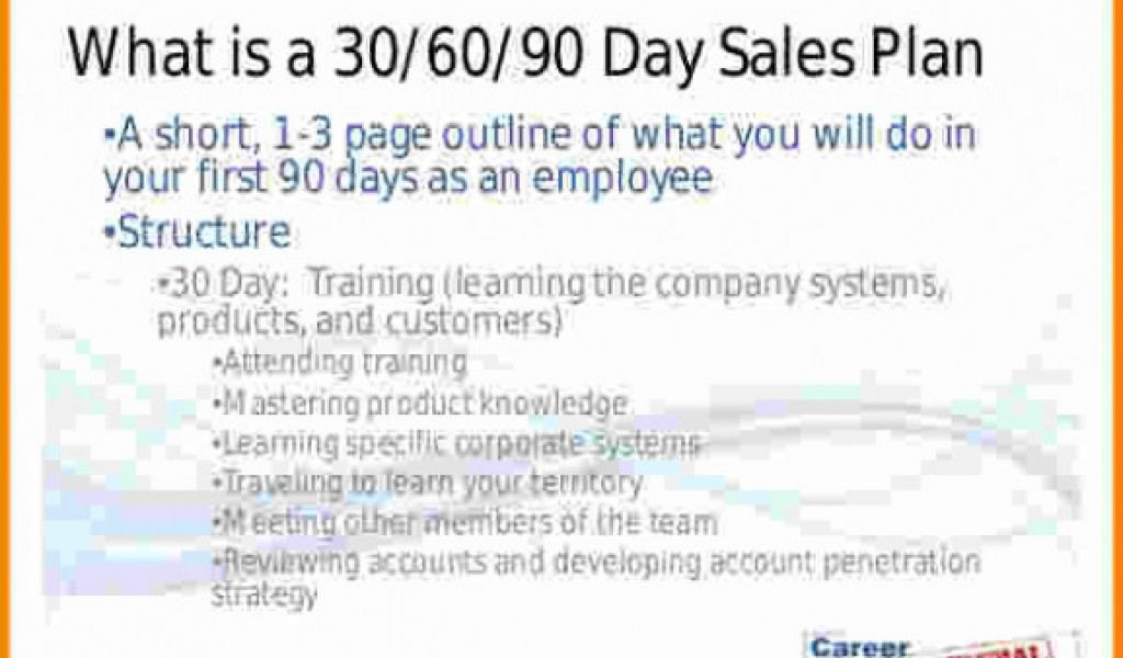 Free 30 60 90 Day Sales Plan Template Download