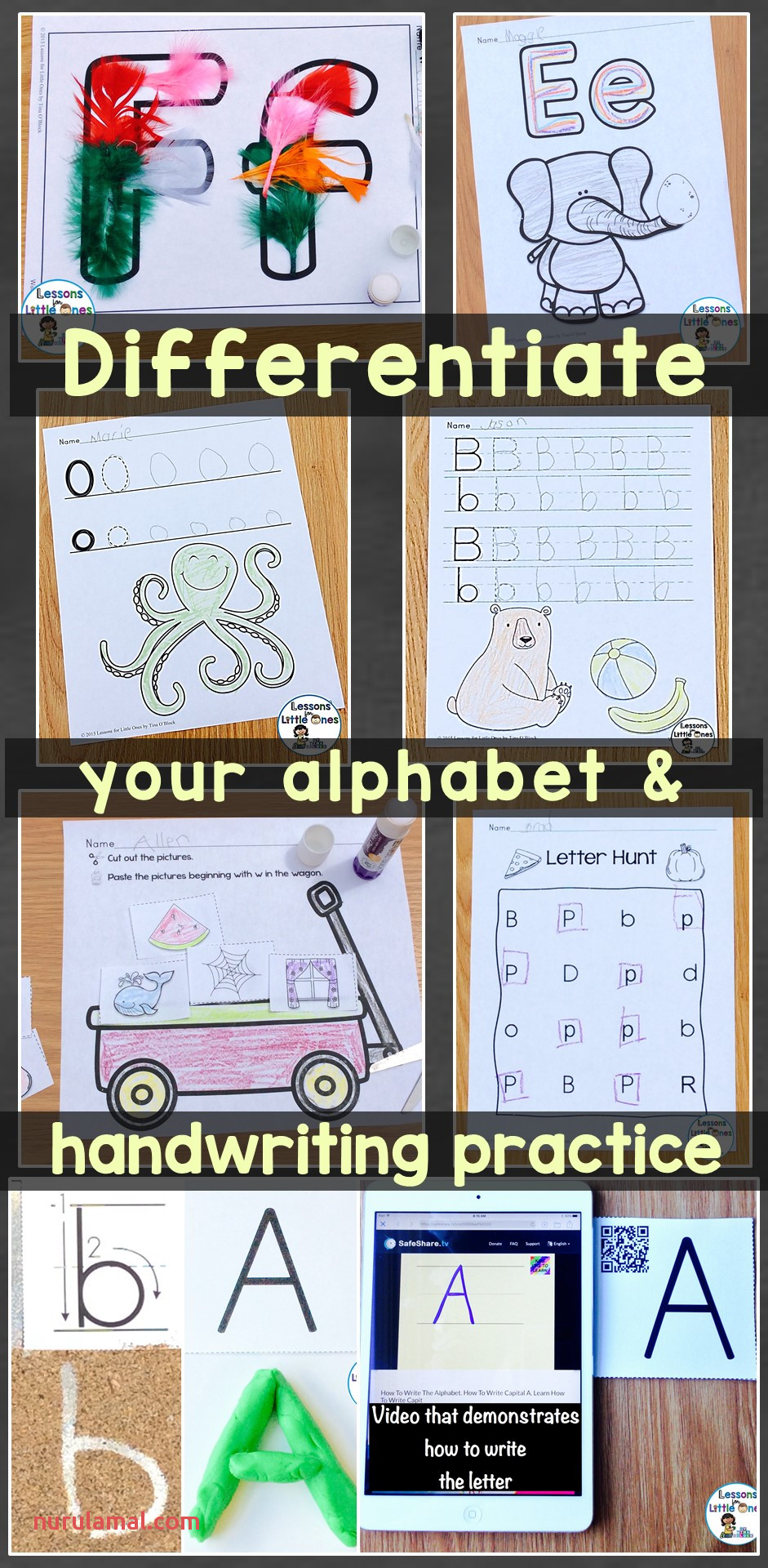 Differentiated Alphabet & Handwriting Practice for
