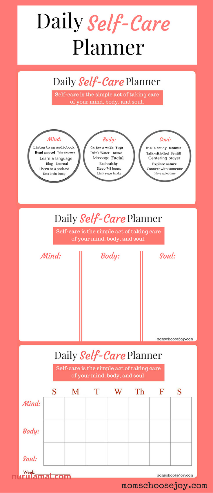 Do You Prioritize Self Care A Daily Self Care Planner Will