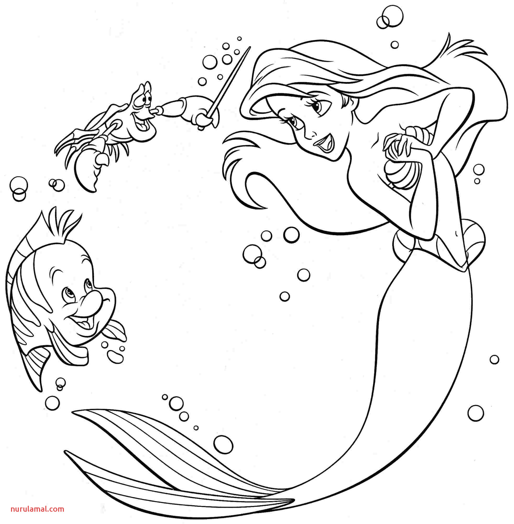 Download Coloring Pages Little Mermaid Coloring In