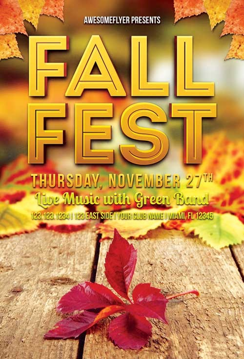 Download The Fall Fest Flyer Template For Photoshop
