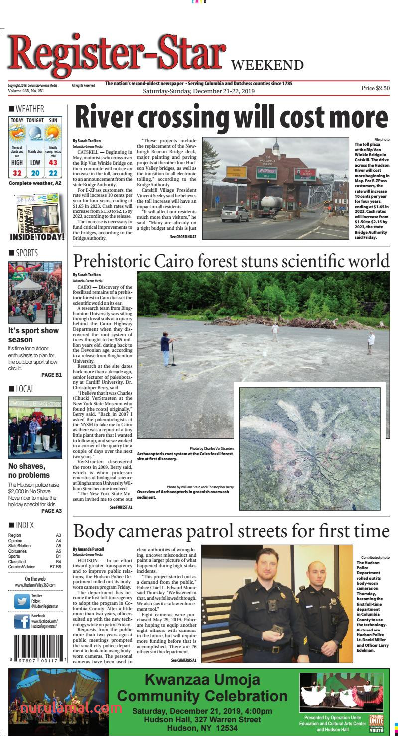 Eedition Register Star December 21 22 2019 by Columbia