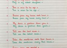 English Language Grammar Language English Handwritten