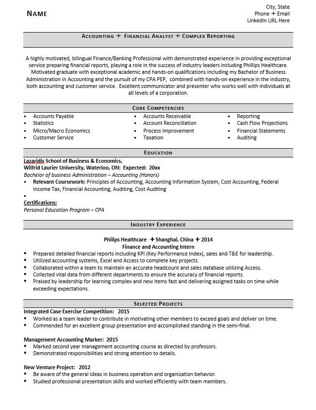 Entry Level Accounting Resume. Resumeaccountant Resume