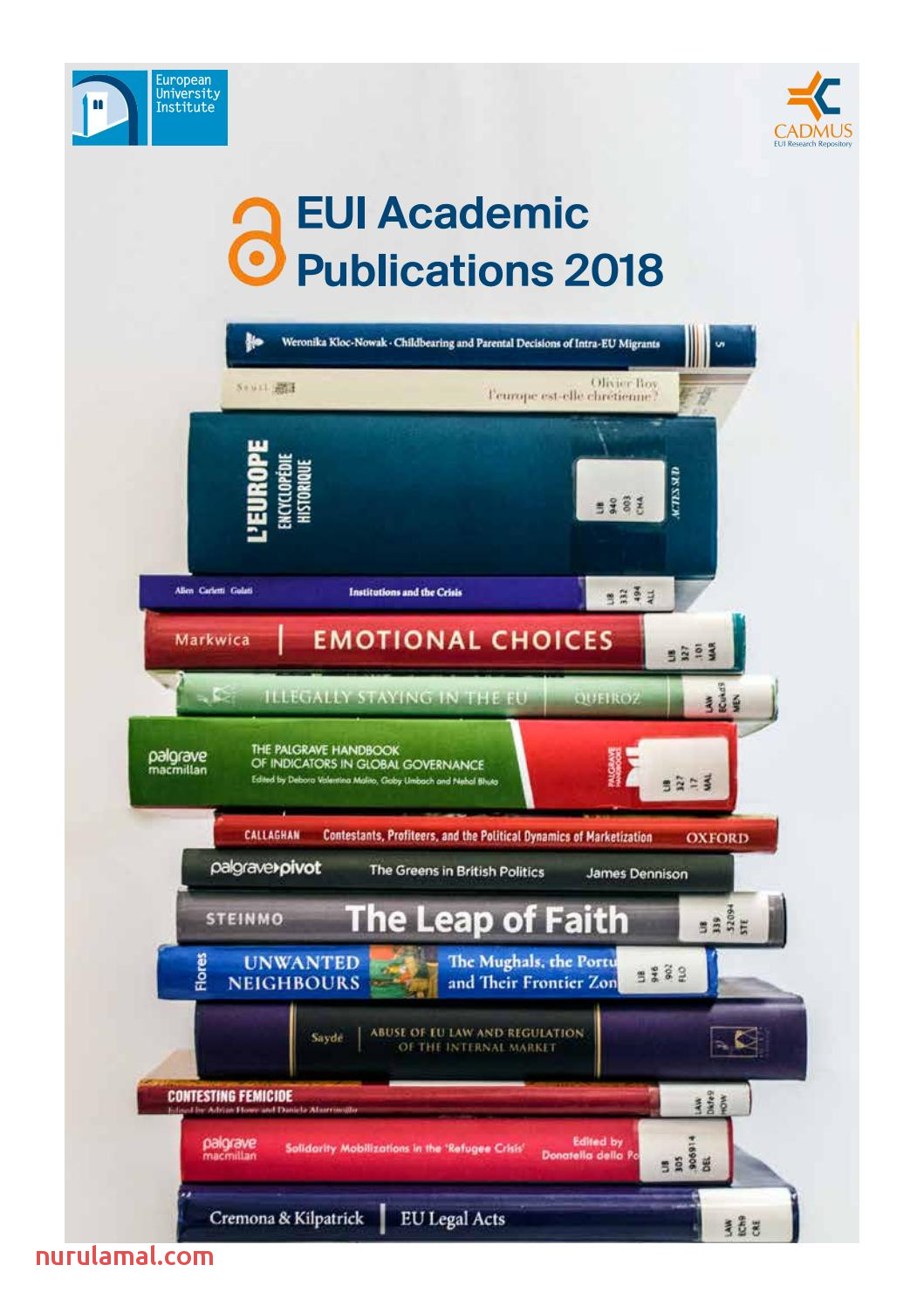 Eui Academic Publications 2018 by European University