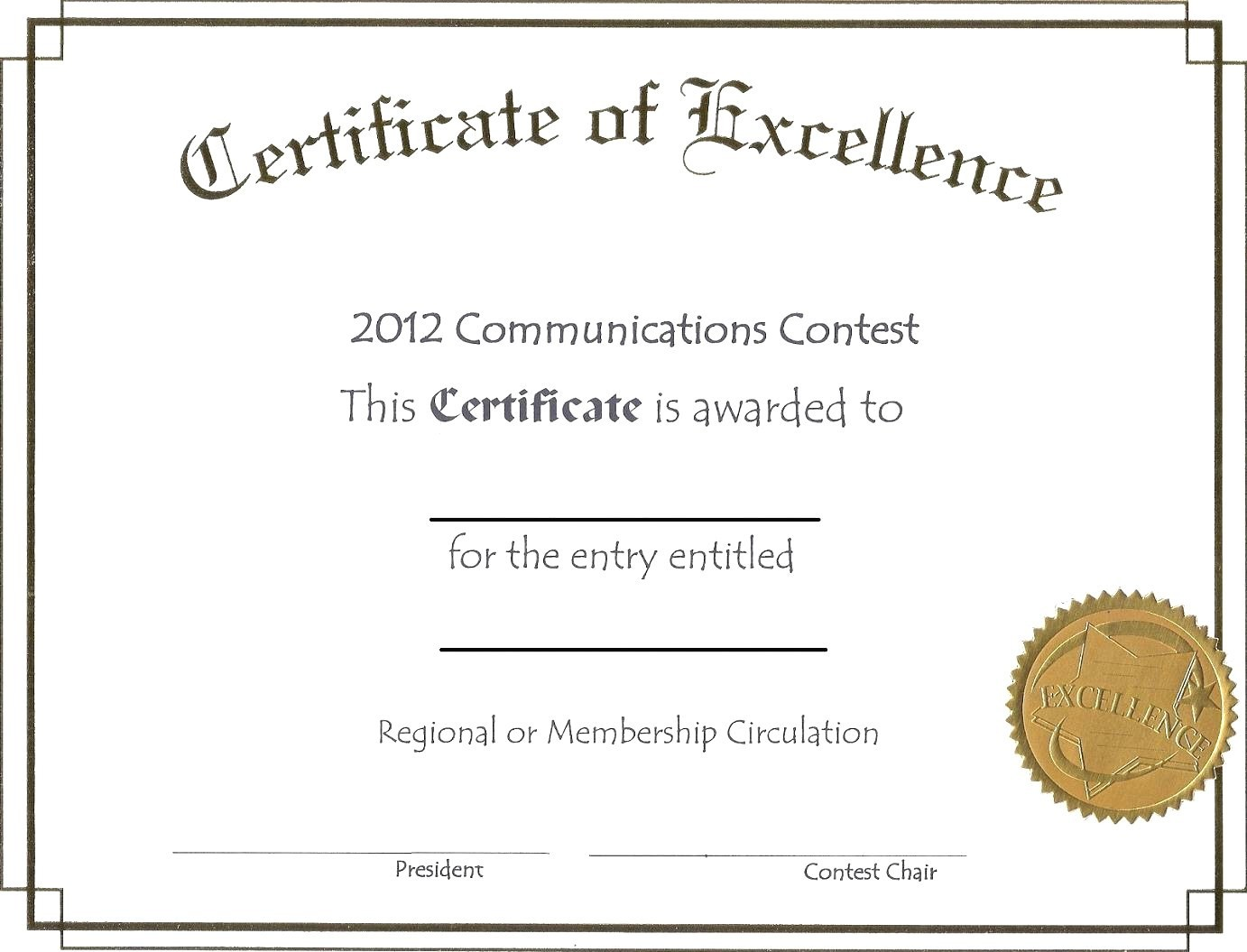 Example Of Award Certificate Image Award Certificate
