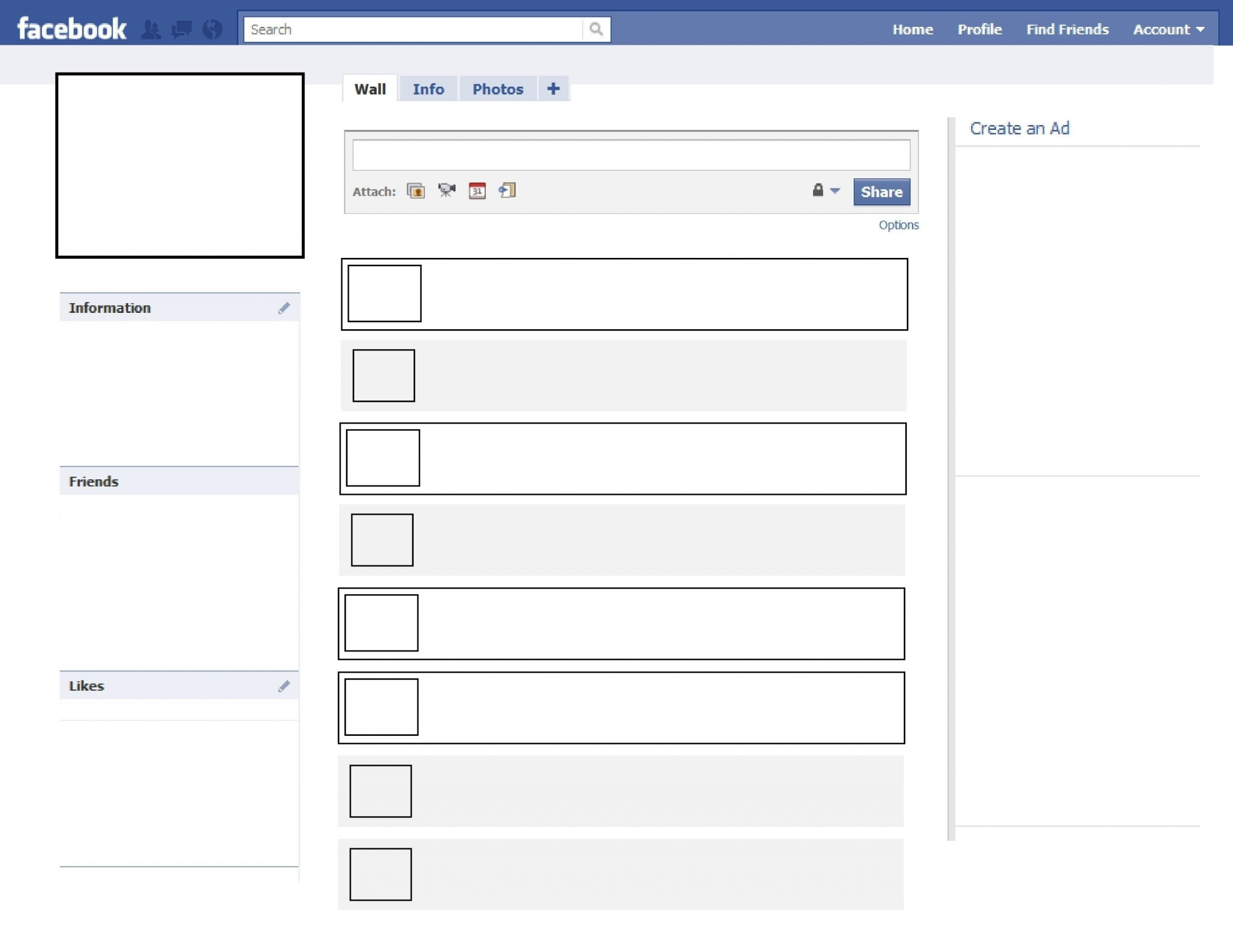 Fakebook Template Google Docs Template Business Idea