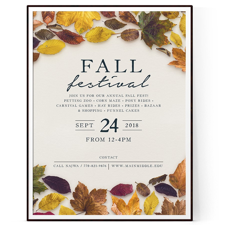 Fall Fest Flyer Template Psd Docx The Flyer Press