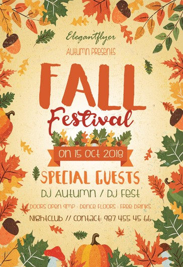 Fall Festival Flyer Template Images Template Design Ideas