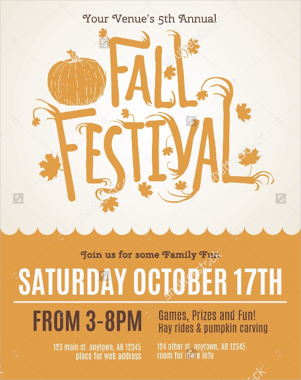 Fall Festival Flyer Templates Free Festival Flyers Free