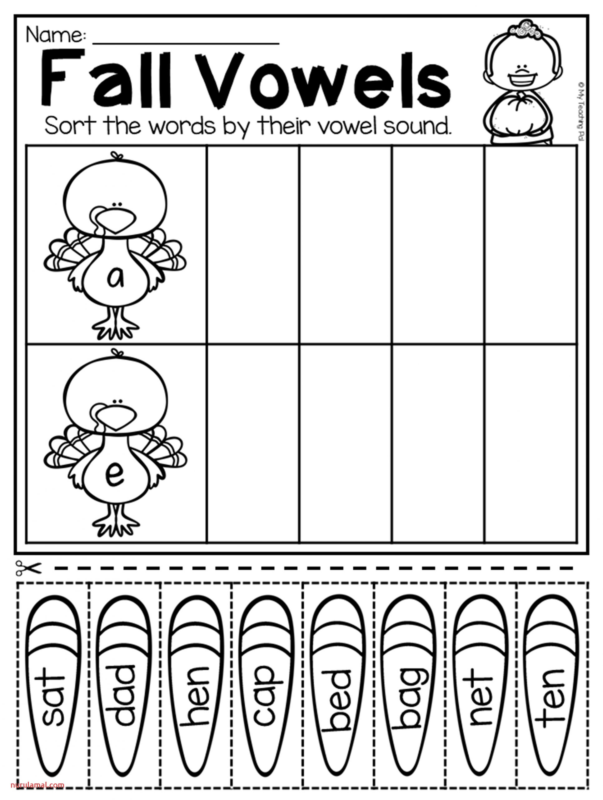 Fall Kindergarten Math and Literacy Worksheet Pack