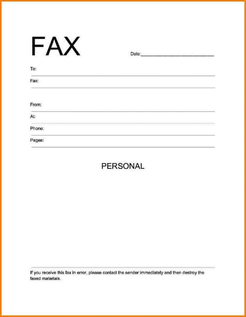 Fax Cover Sheet Free Printable Resume Cover Letter