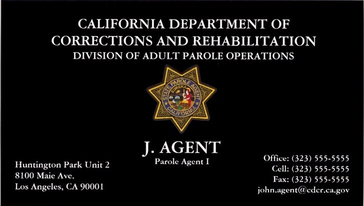 Federal Law Enforcement Business Cards And Templates