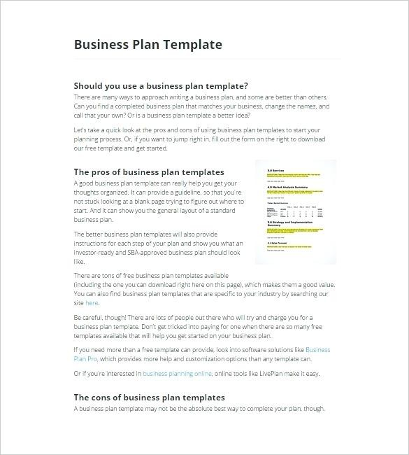 Fill In The Blank Business Plan Free Top Result Project