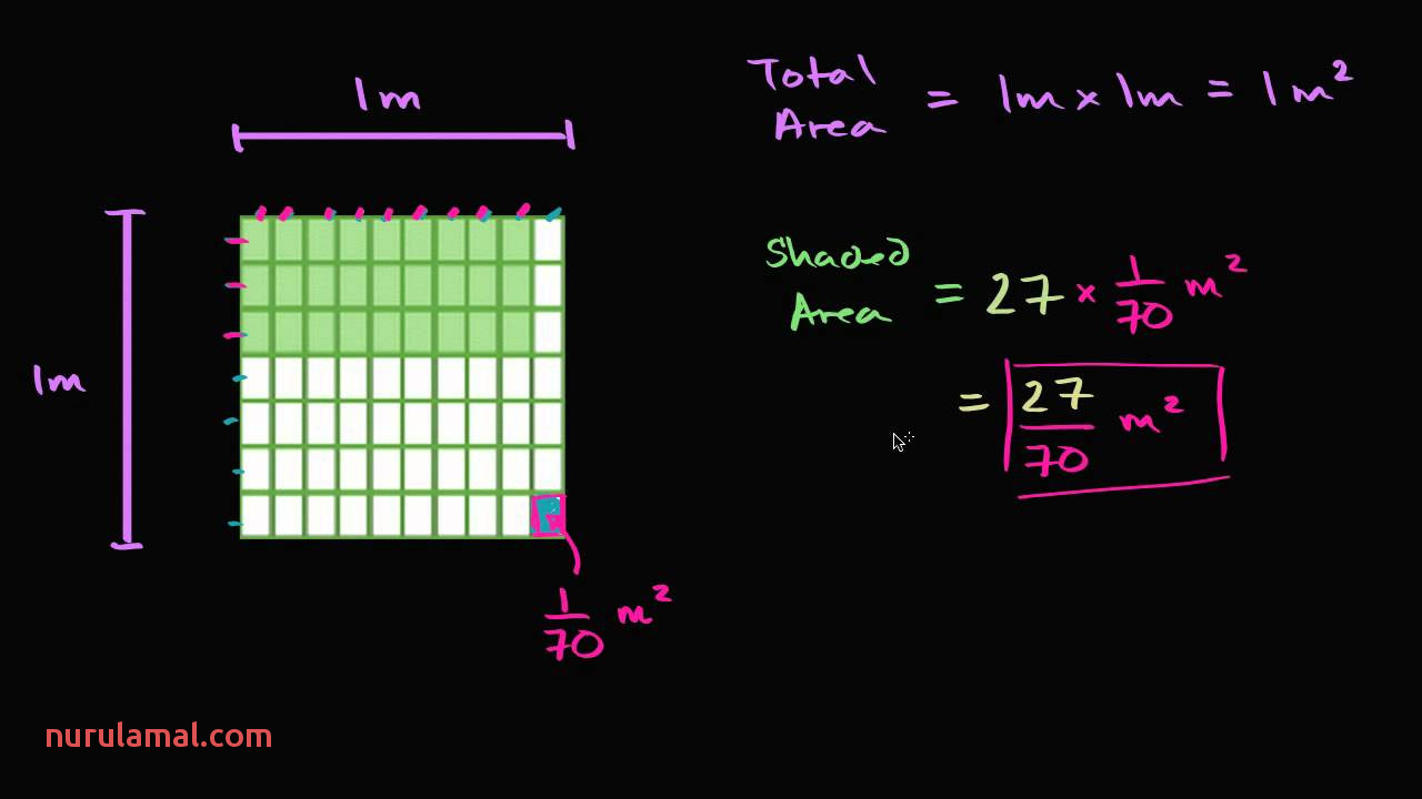 Finding area with Fractional Sides 2 Video