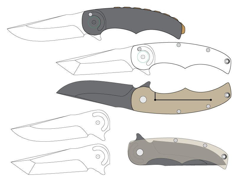 graphic about Printable Folding Knife Templates called Folding Knife Template Templates Information Nurul Amal