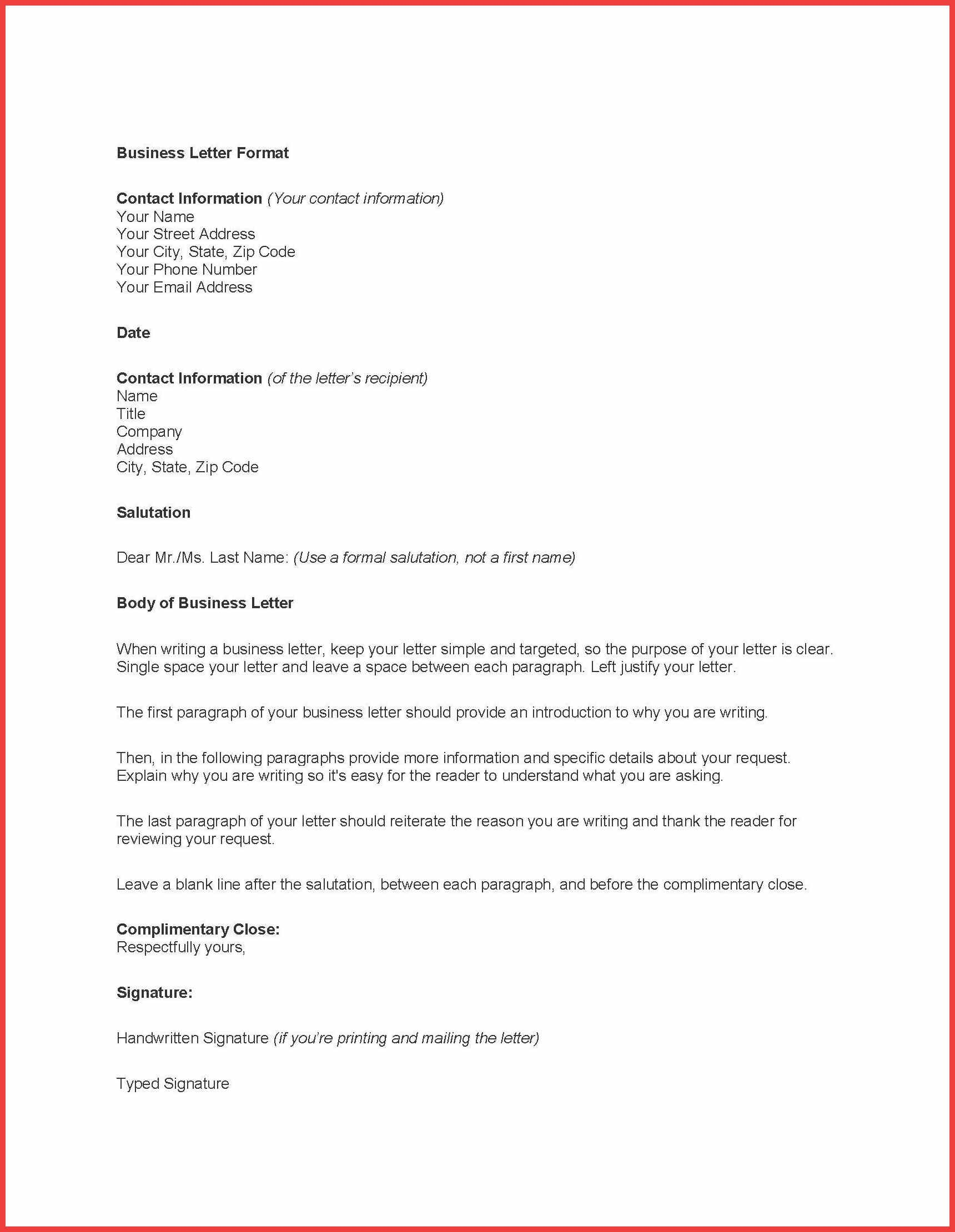 Formal Letter Word Template Memo Example