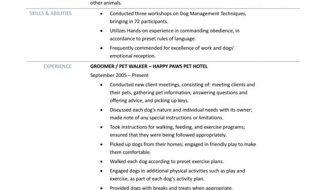 Formidable Pet Sitter Resume Cover Letter With Additional
