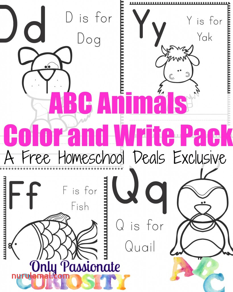 Free Animal themed Abc Printables and Crafts Homeschool