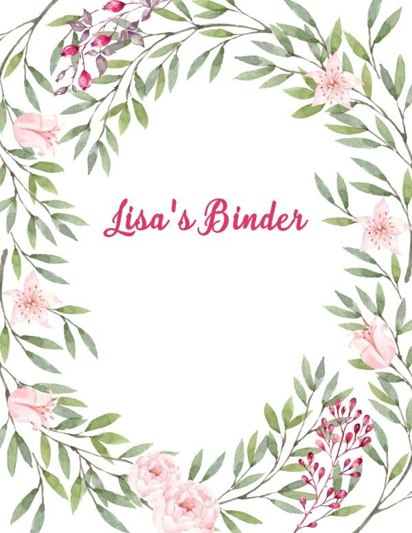Free Binder Cover Templates Clip Art Pinterest