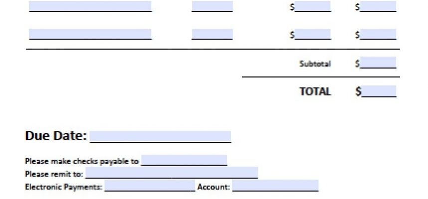 Free Business Invoice Template Excel Pdf Word .doc