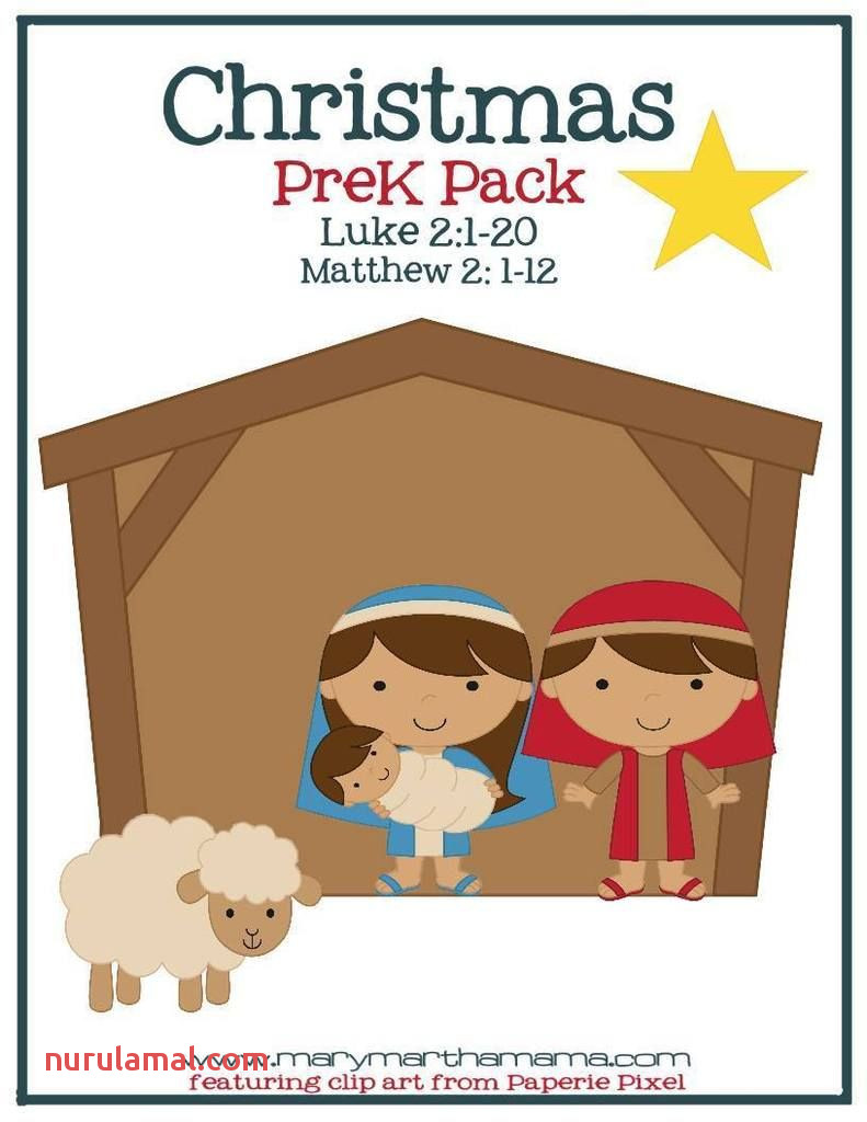 Free Christmas Nativity Preschool Pack