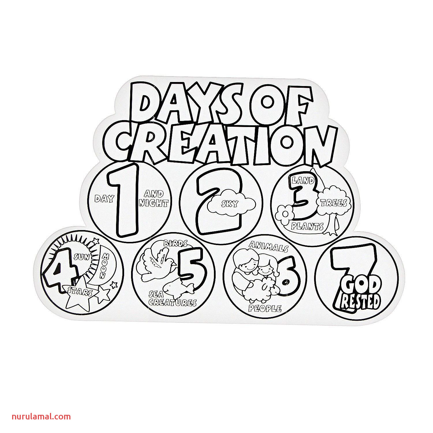 Free Days Creation Coloring Pages Download Free Clip Art