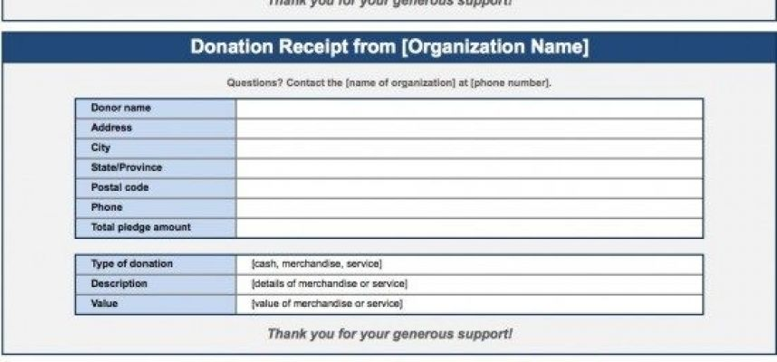 Free Donation Invoice Template Receipt Excel Pdf