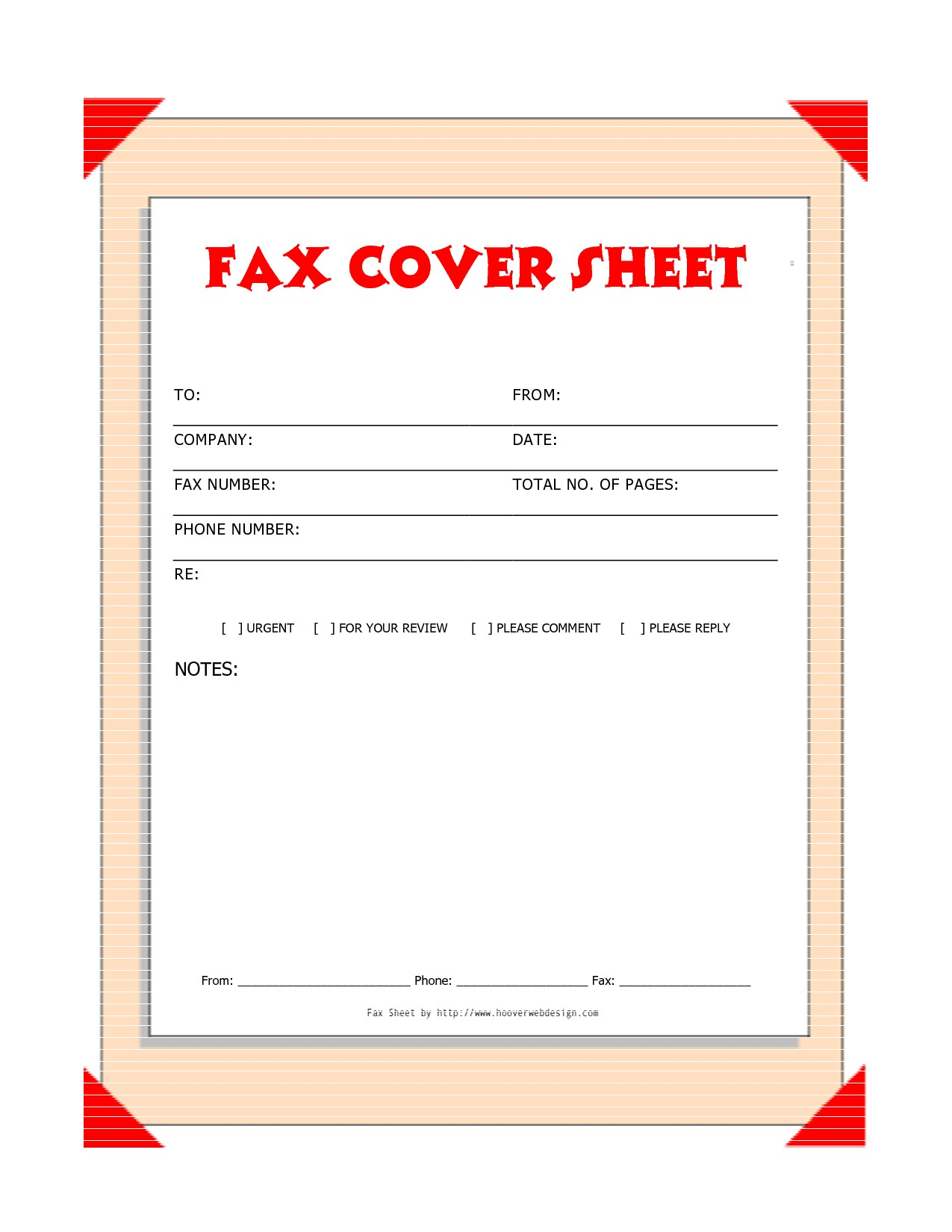 Free Downloads Fax Covers Sheets Free Printable Fax