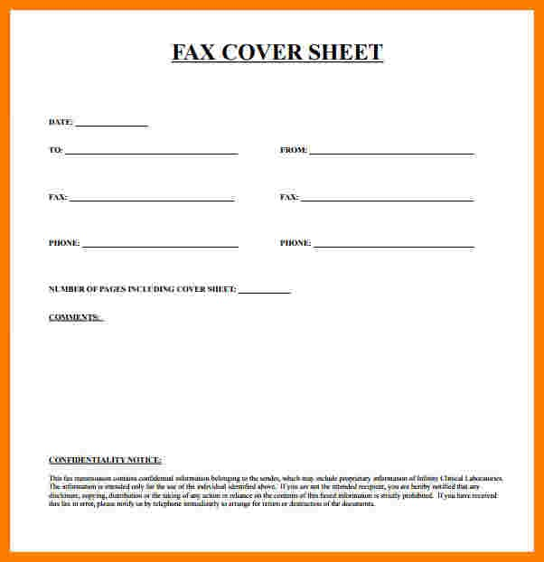 Free Fax Cover Sheet Printable Pdf Ledger Review