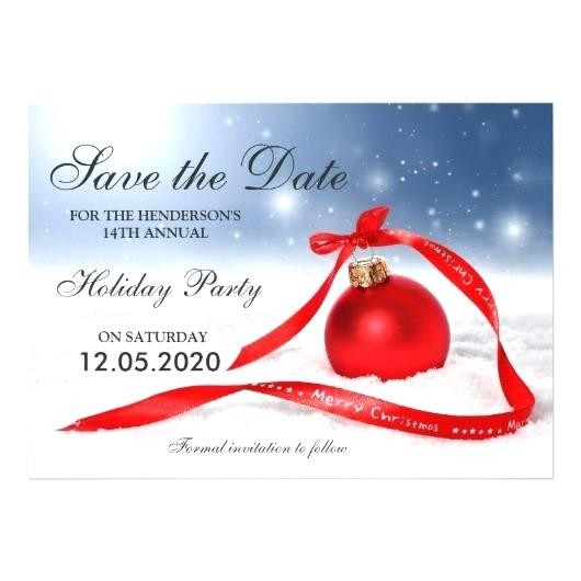 Free Holiday Save The Date Templates For Word Festive