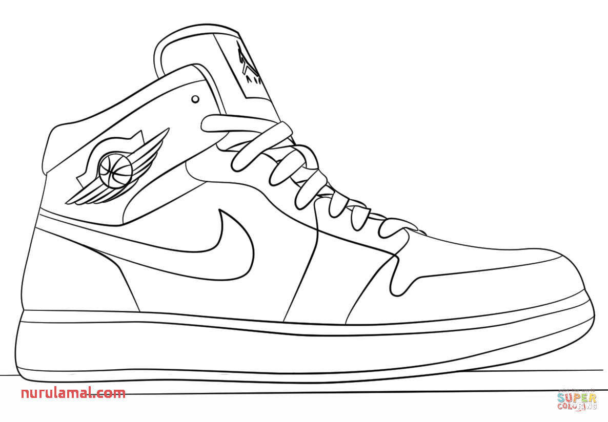 Free Jordan Shoes Coloring Pages Download Free Clip Art