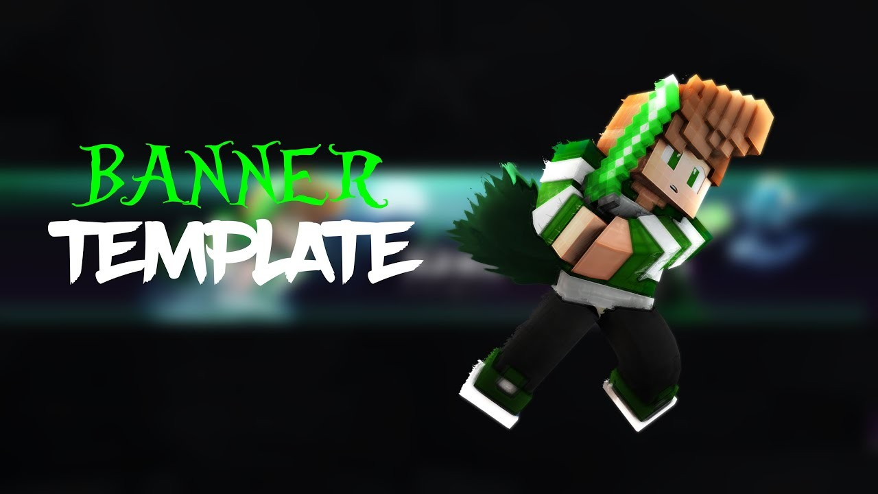 Free Minecraft Banner Template Cd Photoshop Youtube