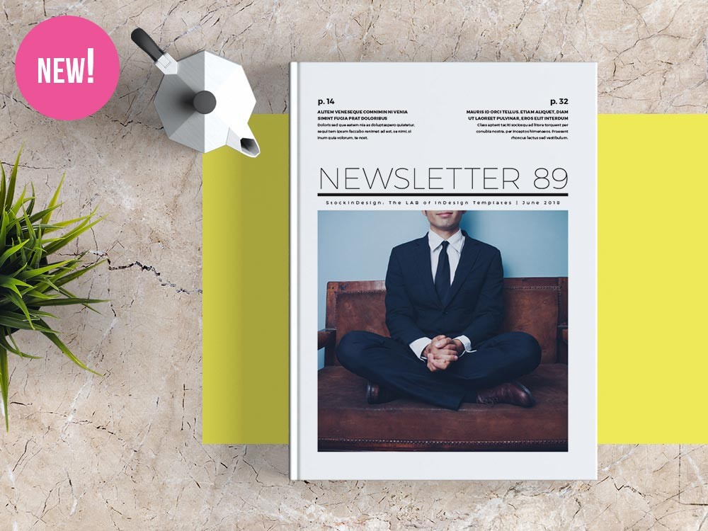 Free Newsletter Template For Adobe Indesign Free