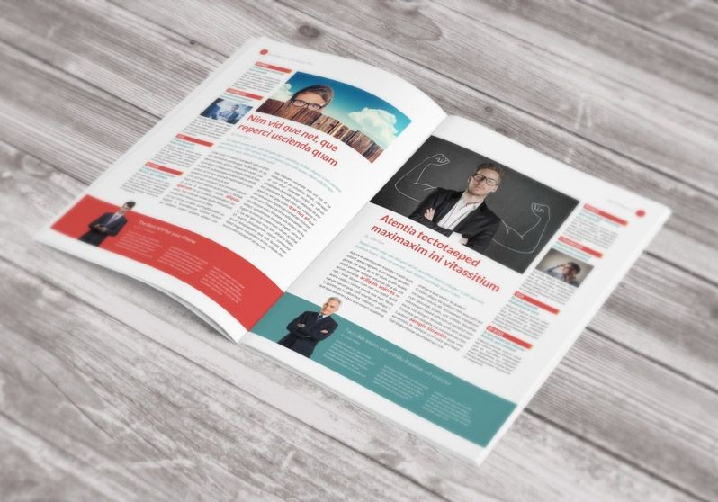 Free Newsletter Template Stock Indesign Design