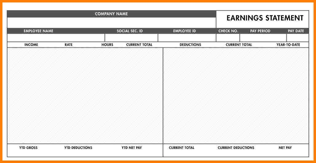 Free Paycheck Stub Template Word Samples Of Paystubs