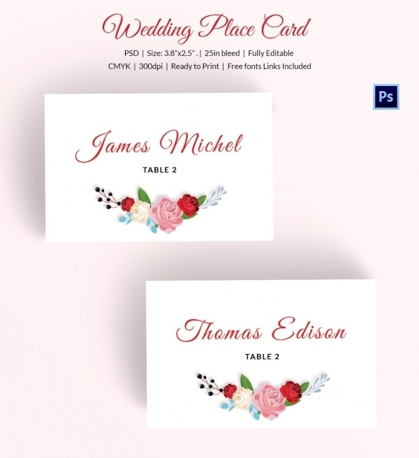 Free Place Card Template Word The Letter Sample