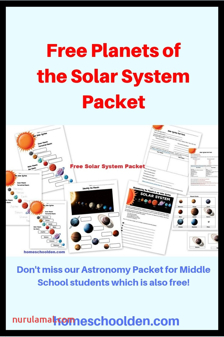 Free Planets Of the solar System Worksheets Homeschool