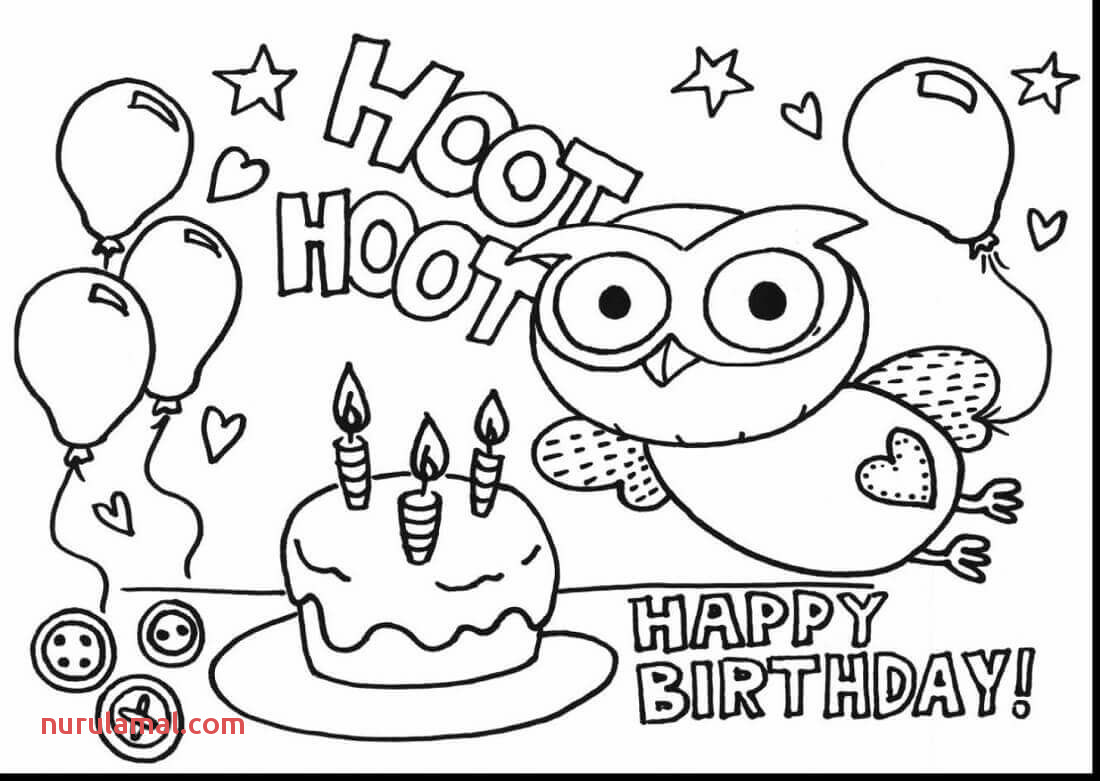 Free Printable Coloring Pages Happy Birthday