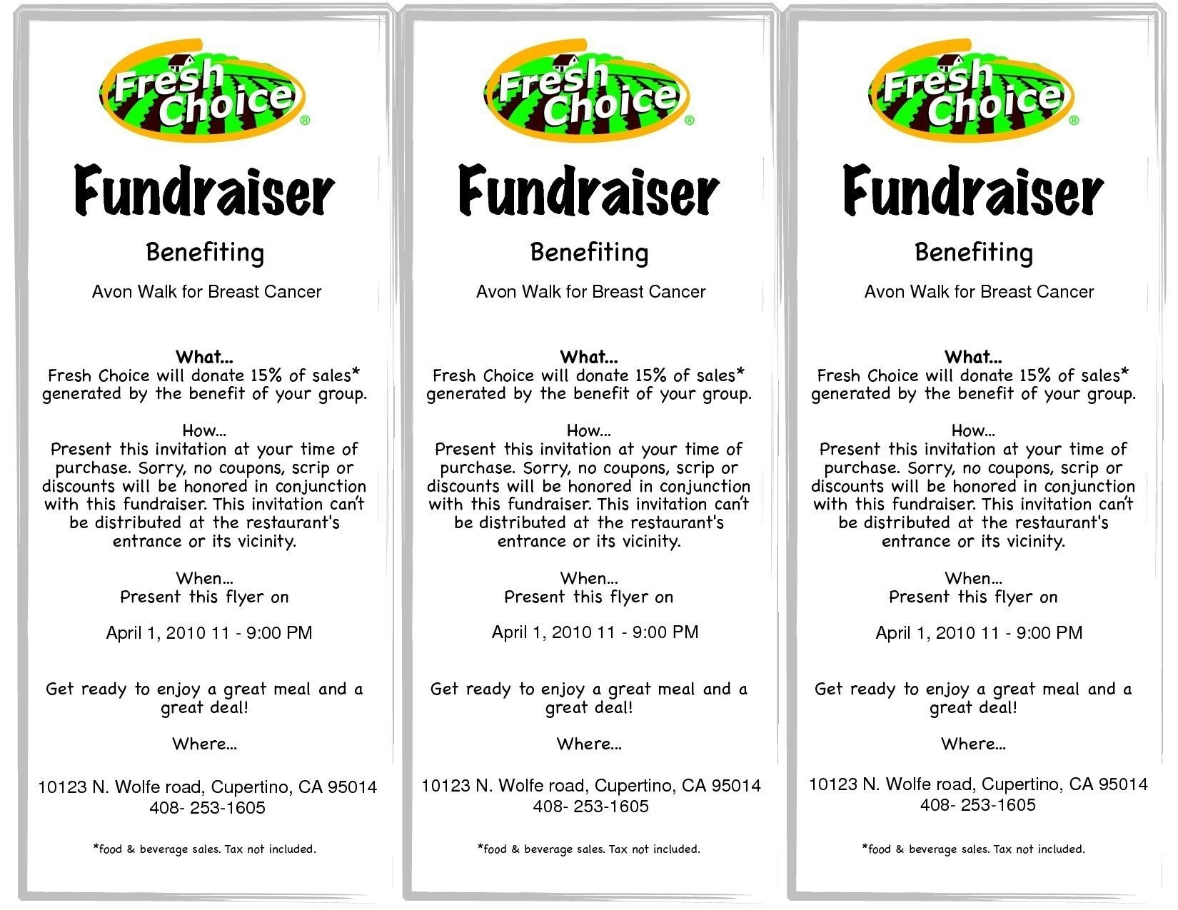 Free Printable Fundraiser Flyer Templates Themesclub On