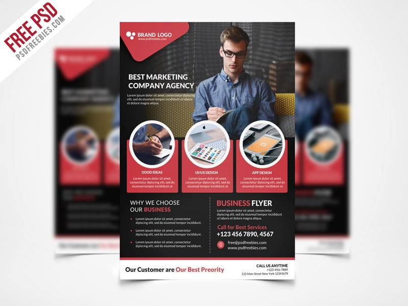 Free Psd Corporate Business Flyer Template Psd Freebie