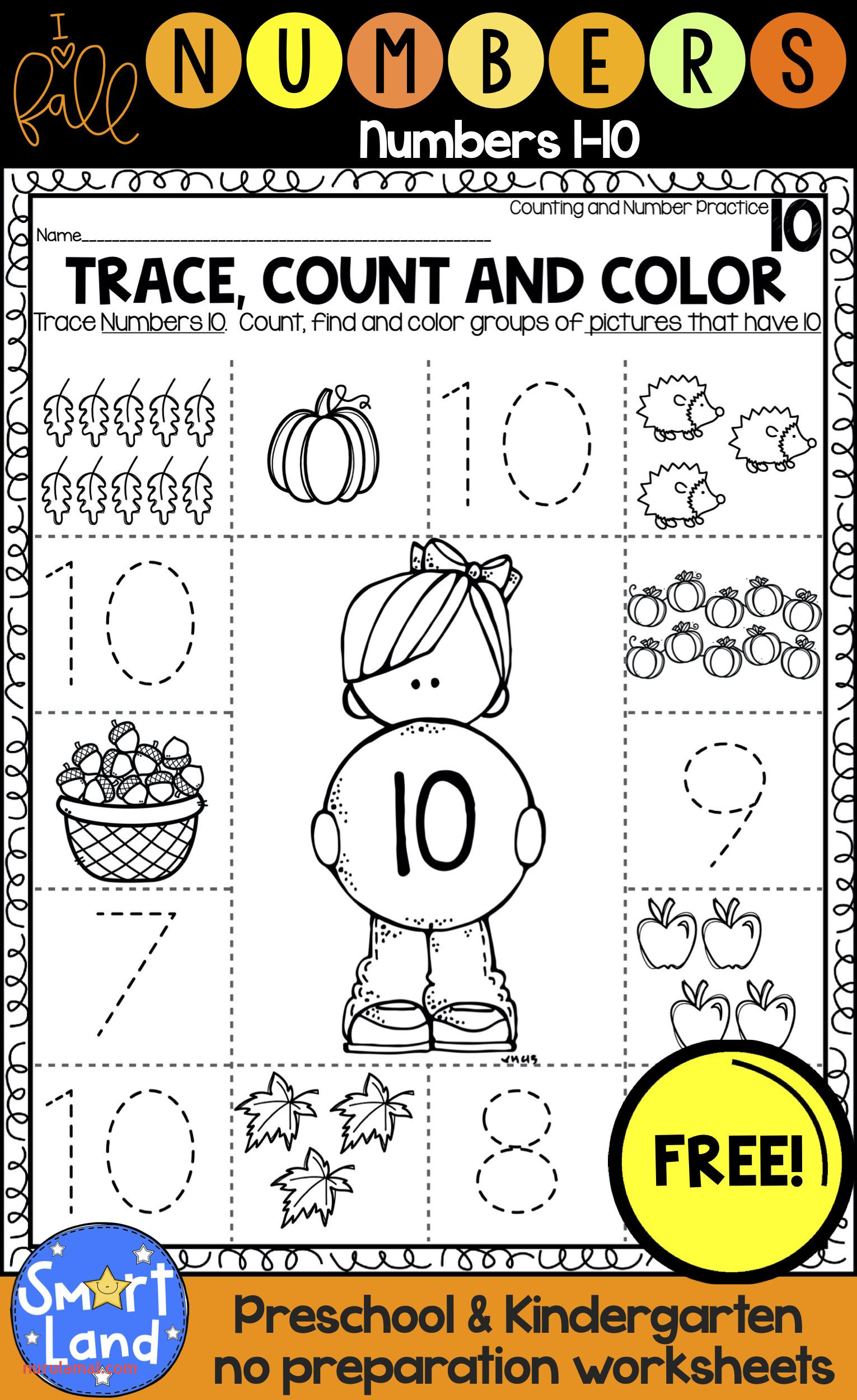 "Free ""hello Fall"" Number Practice Set"