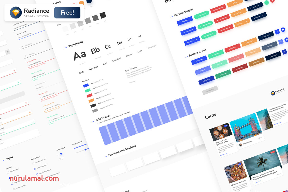 Free Radiance Design System Ui Kit Creativetacos