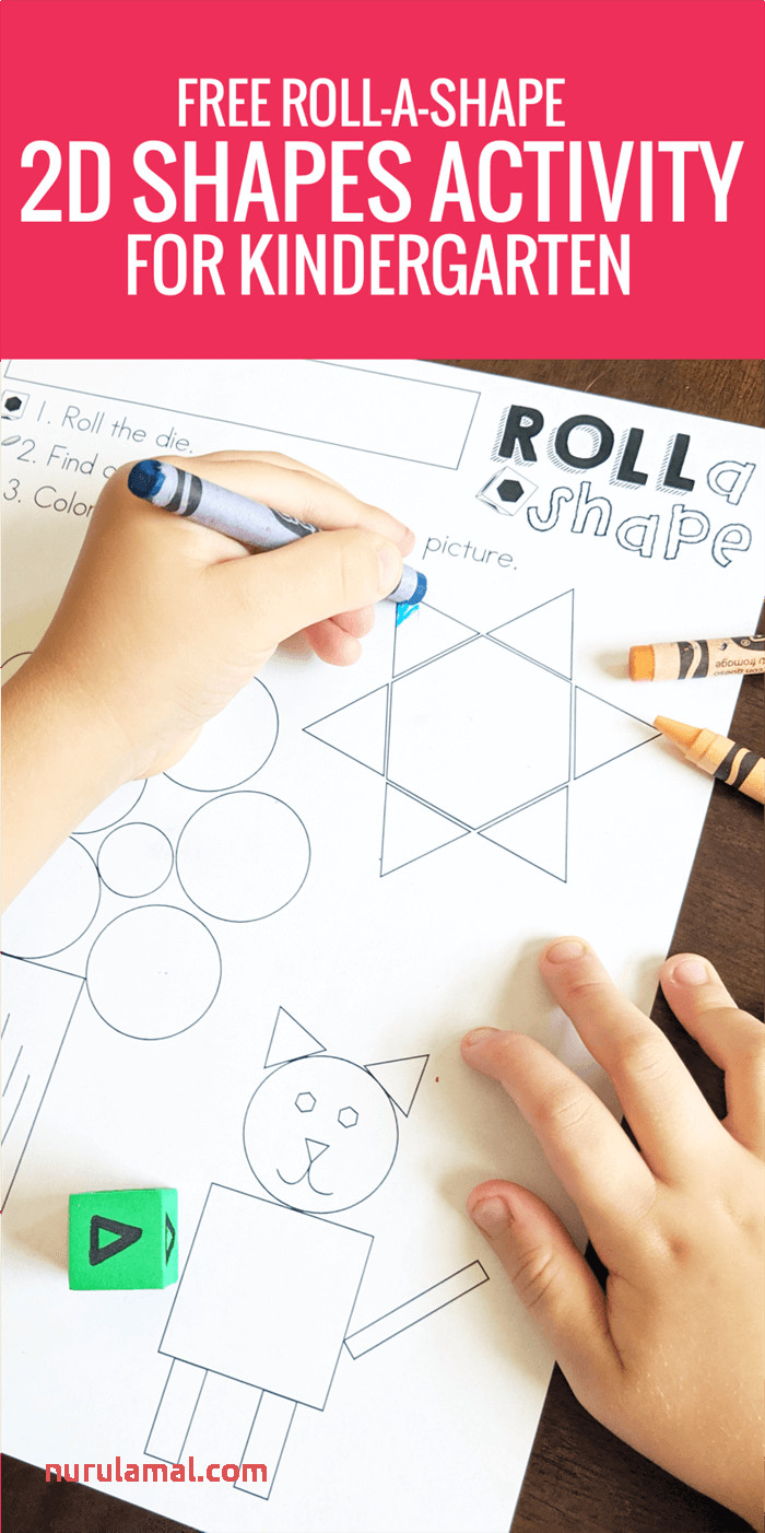 Free Roll A Shape 2d Shapes Activity for Kindergarten