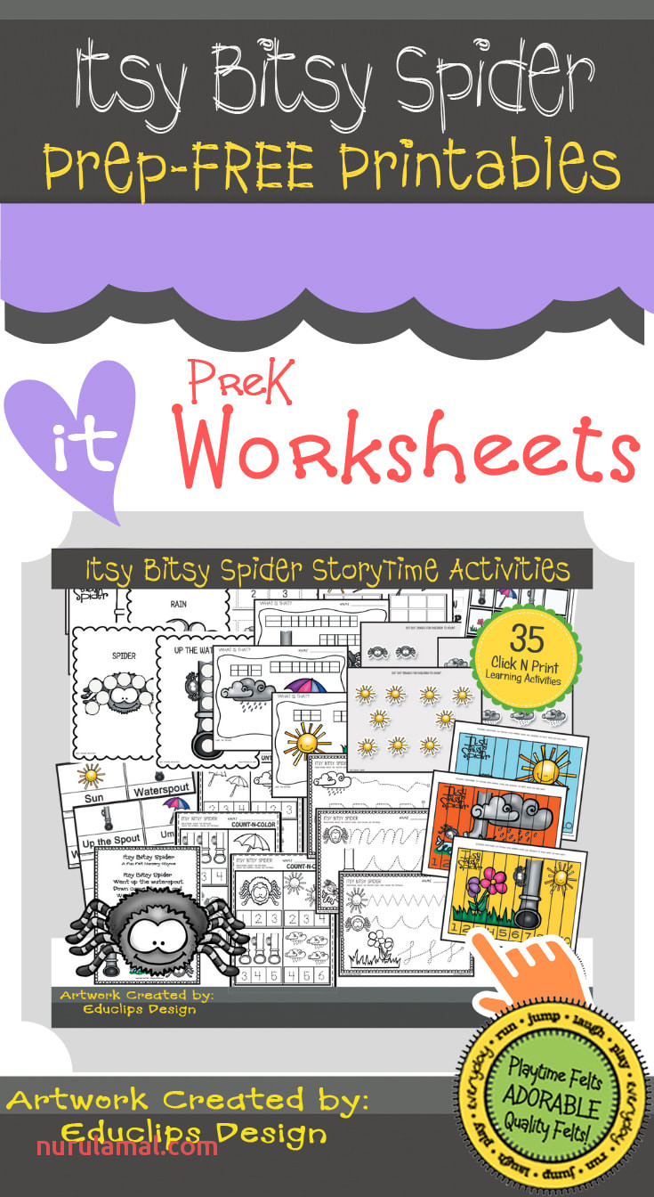 Freebie Friday Itsy Bitsy Spider Preschool Printable