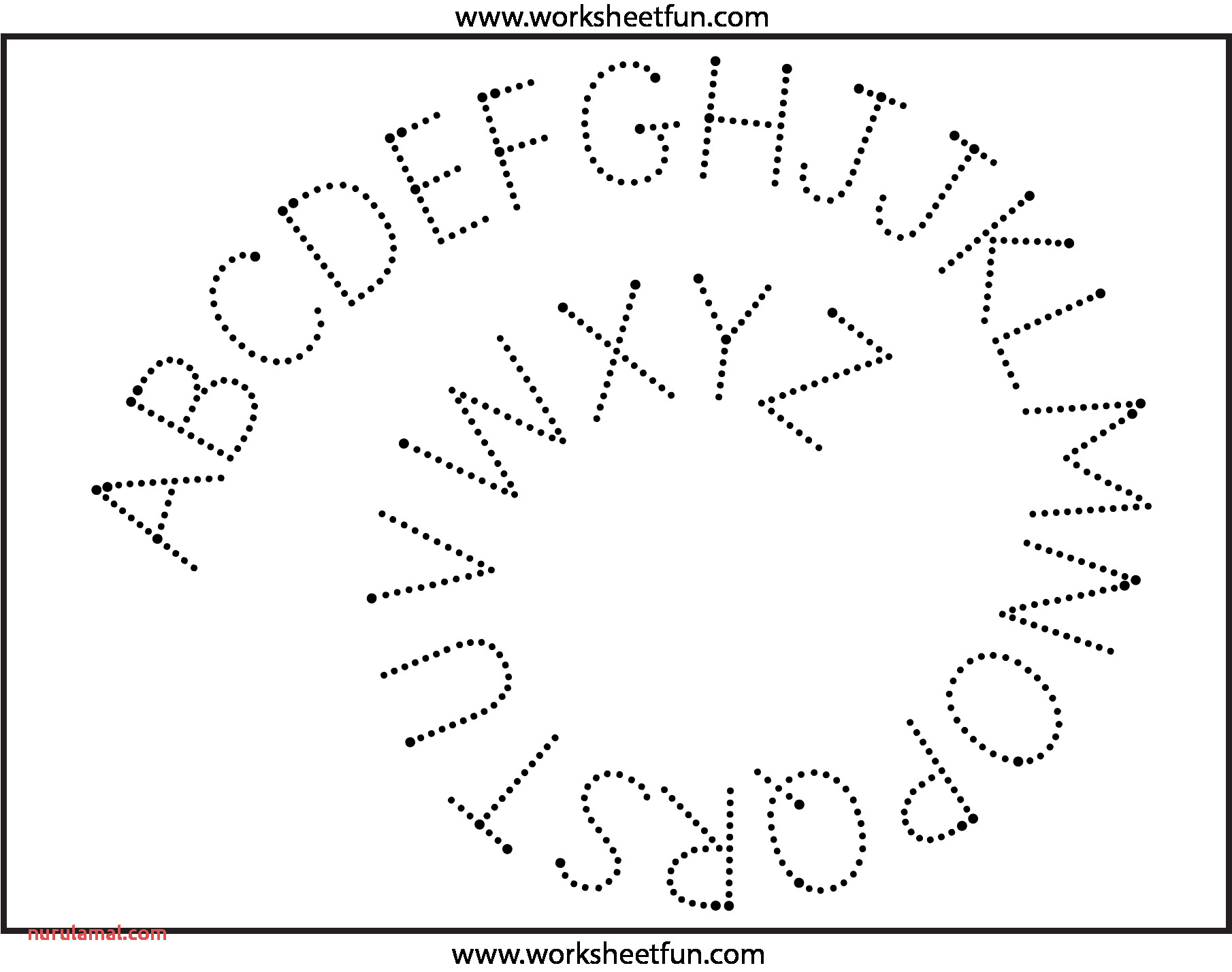 Fun Letter Tracing Worksheets