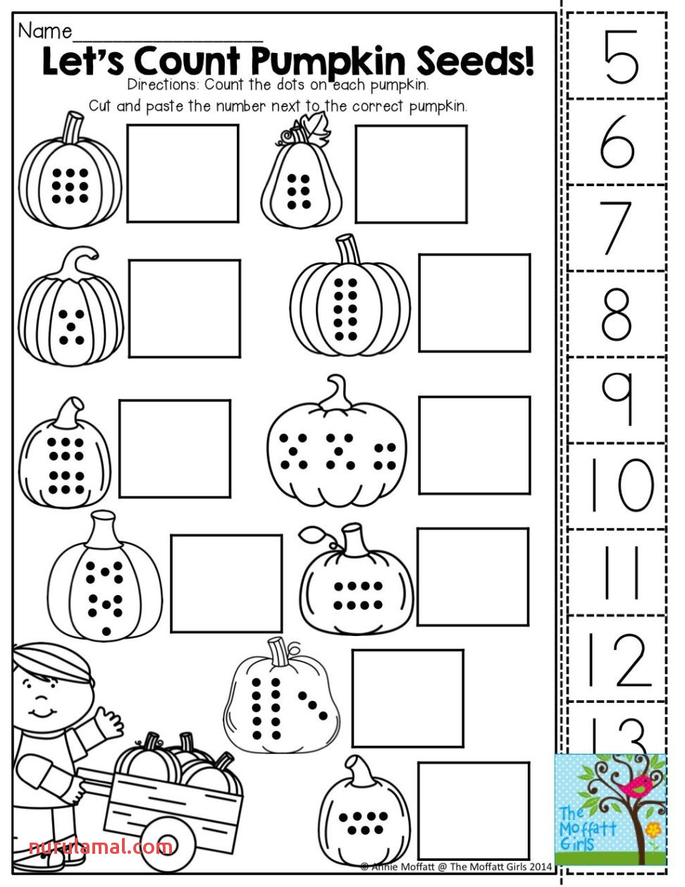 Fun Worksheets for Kindergarten Counting Math Games Free