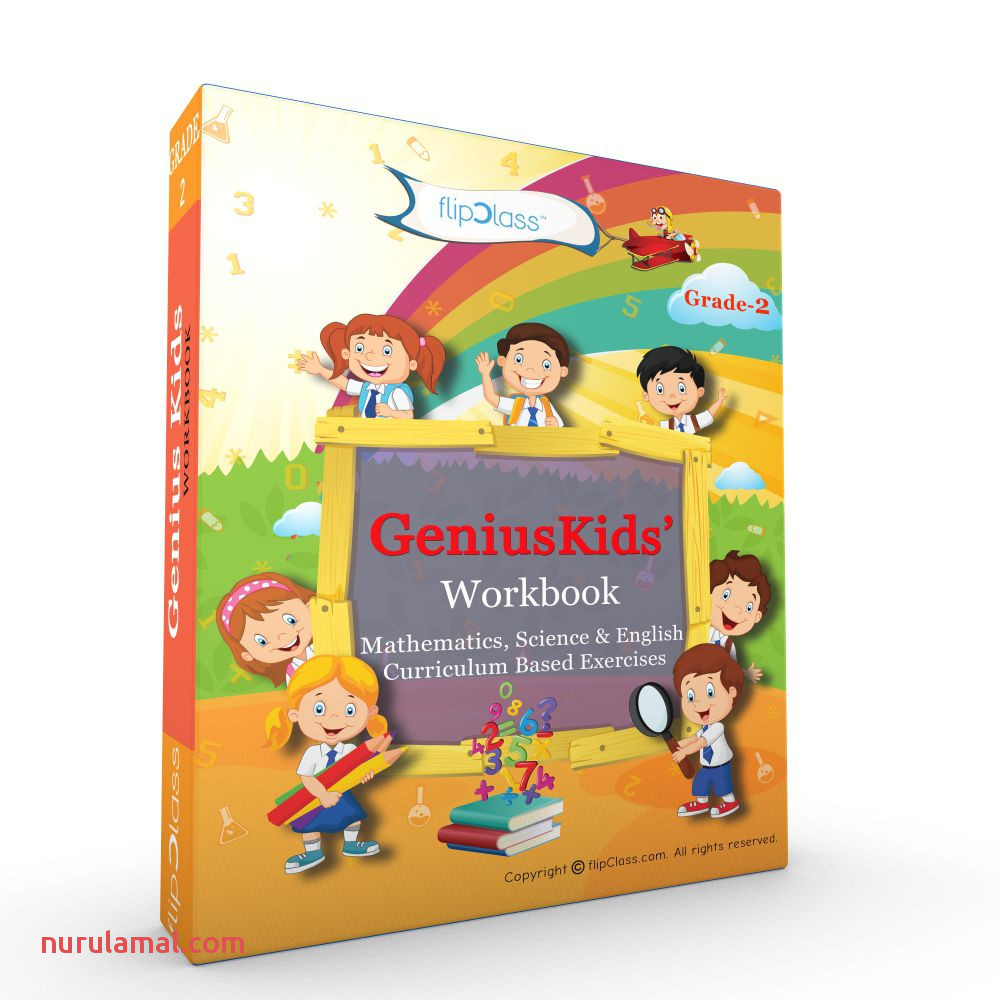 Genius Kids Worksheets Bundle for Class 2 Grade 2 Set Of 6 Workbooks English Mathematics and Science