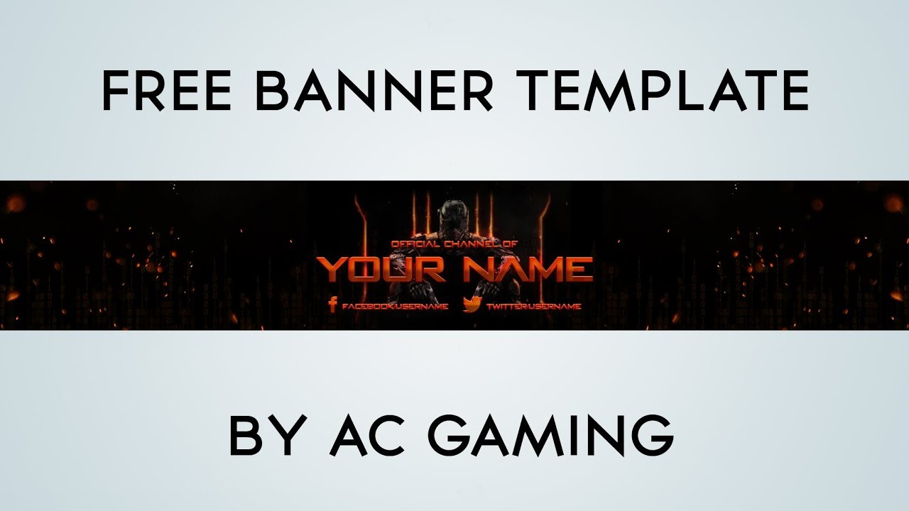 Giveaway Black Ops Banner Template Youtube