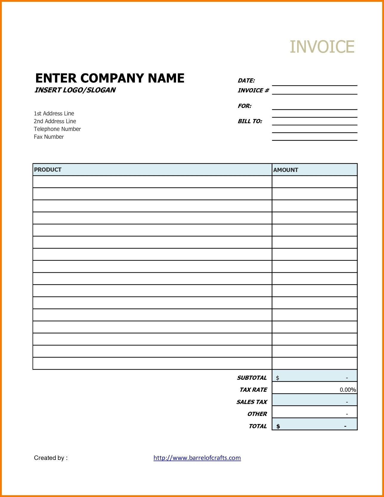 Google Documents Invoice Template Invoice Template Ideas